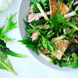 Sesame Chinese Chicken Salad with Asian Greens recipe