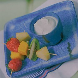 Caribbean Fruits With Key Lime Dip recipe