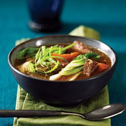 Chinese-Style Beef, Sweet Potato, and Bok Choy Stew recipe