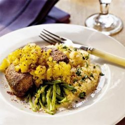 Pork Chops with Warm Pineapple Salsa recipe