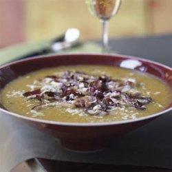 Butternut Squash Soup with Seared Radicchio recipe