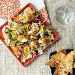 Crunchy Chinese Chicken Salad with Wonton Chips recipe