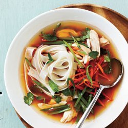 Spicy Asian Chicken and Noodle Soup recipe