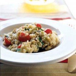 Risotto with Fresh Mozzarella, Grape Tomatoes, and Basil recipe
