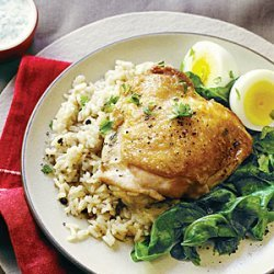 Spiced Chicken Pilaf with Eggs recipe