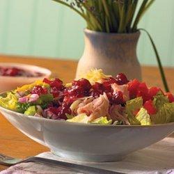 Turkey Cobb Salad with Cranberry Vinaigrette recipe