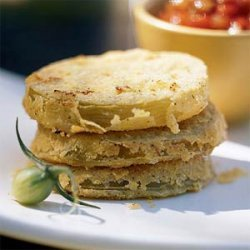 Unfried Green Tomatoes with Fresh Tomato Gravy recipe