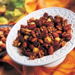 Spicy Herb Roasted Nuts recipe