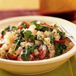 Pasta with Watercress, Tomatoes, and Goat Cheese recipe