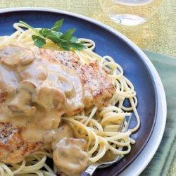Chicken With White Wine and Mushrooms recipe