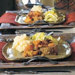 Rosemary-Dijon Roast Pork with Autumn Fruit Compote recipe
