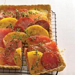 Heirloom Tomato and Goat Cheese Tart recipe