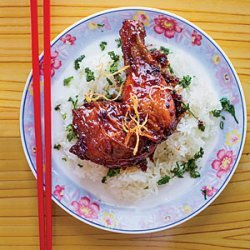 Caramelized Ginger Chicken with Sticky Rice recipe