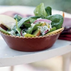 Autumn Apple and Spinach Salad recipe
