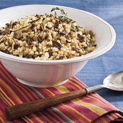Israeli Couscous With Roasted Mushrooms recipe