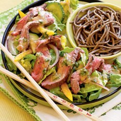 Ginger Beef Salad with Miso Vinaigrette recipe