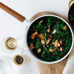 Sauteed Kale with Chorizo and Crispy Garlic recipe