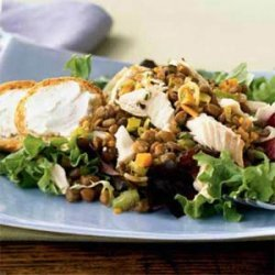 Trout with Lentils recipe