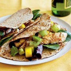 Fish Tacos with Mango Salsa Verde recipe