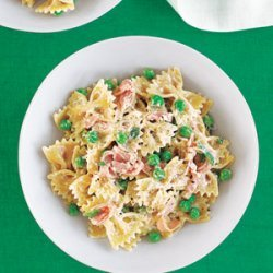 Pasta with Peas, Ham and Parmesan Cheese recipe