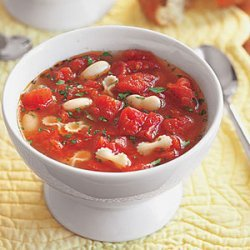 Tomato Soup with White Beans and Pasta recipe