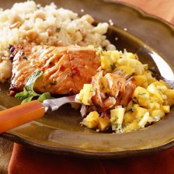 Moroccan Roasted Salmon with Mango Salsa recipe