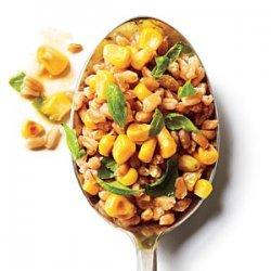 Basil and Corn Farro Salad recipe