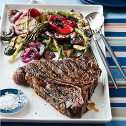 Grilled Porterhouse Steak with Summer Vegetables recipe