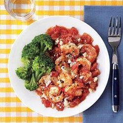 Roasted Shrimp with Tomatoes recipe