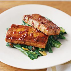Glazed Tofu with Bok Choy recipe