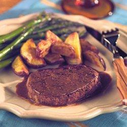 Tenderloin Steaks with Horseradish Mustard Sauce recipe