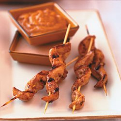 Chicken Tenders Satay with Peanut Dipping Sauces recipe