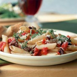 Penne with Tomatoes, Olives, and Capers recipe