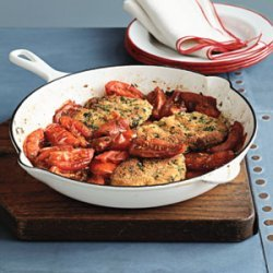 Pork Cutlets with Pan-Roasted Tomatoes recipe