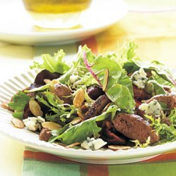Grilled Duck Breast Salad with Champagne-Honey Vinaigrette recipe