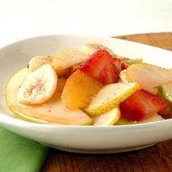 Fresh Fruit Salad with Nutmeg-Cinnamon Syrup recipe