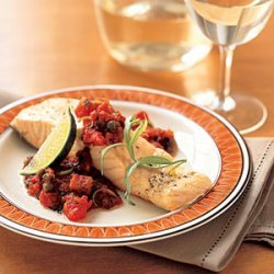 Roast Salmon with Tomato Sauce recipe