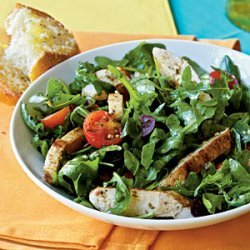 Herbed Arugula-Tomato Salad with Chicken recipe