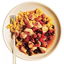 Rice and Beans with Chicken and Chorizo recipe