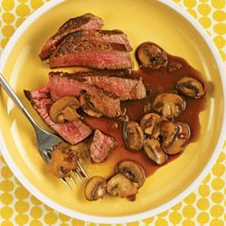 Beef Tenderloin with Mushroom-Red Wine Sauce recipe