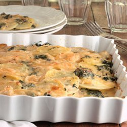 Scalloped Potatoes With Spinach And Cheese recipe