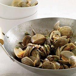Clams with Pork and Golden Garlic recipe