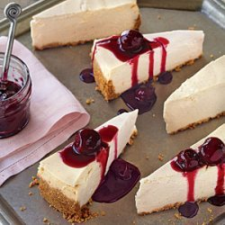 Vanilla Cheesecake with Cherry Topping recipe