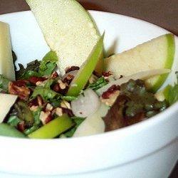 Green Salad with Autumn Fruit recipe