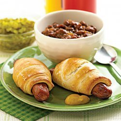 Turkey Franks with Molasses Baked Beans recipe