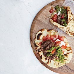 Lamb Burgers with Green Harissa recipe