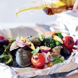 Grilled Shellfish and Vegetables al Cartoccio recipe