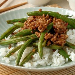 Szechuan Green Beans with Ground Pork recipe