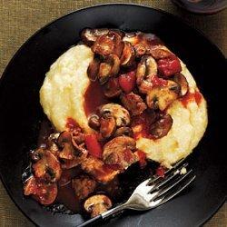 Mushroom and Sausage Ragu with Polenta recipe