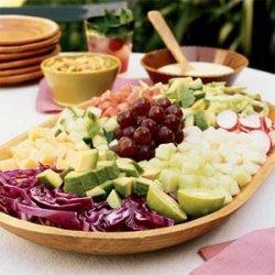 Mexican Chopped Salad with Orange Crema recipe